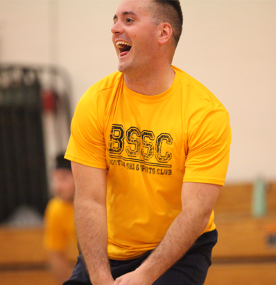 BSSC Dodgeball League Man in Yellow Tee Shirt Jersey Jeers at Opposing Players