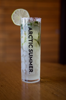 Arctic Summer Snowy Raspbery Lime Mojito