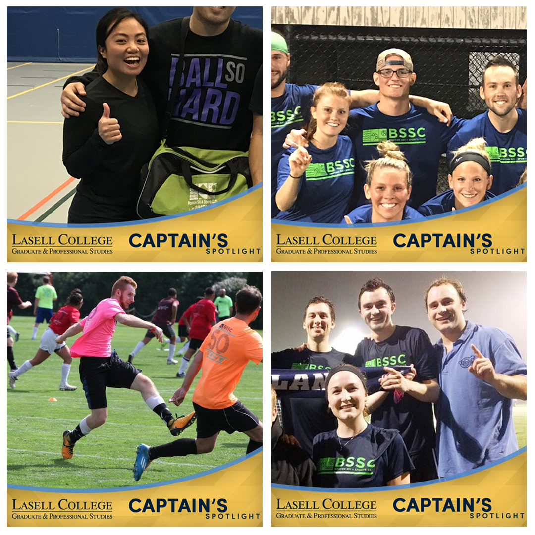 BSSC and Lasell University Captain's Spotlight female player smiling and giving a thumbs up