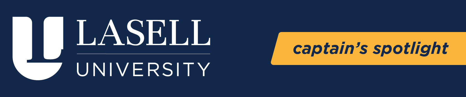 BSSC Lasell University Captain's Spotlight Blue and Yellow 2019 Logo