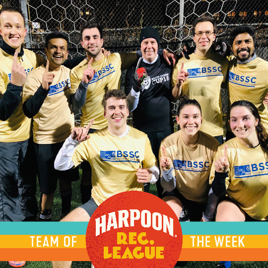 Harpoon Brewery and BSSC Team Photo Adult Coed Soccer Indoors